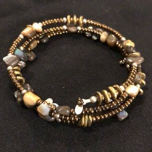 Silpada memory wire beaded bracelet